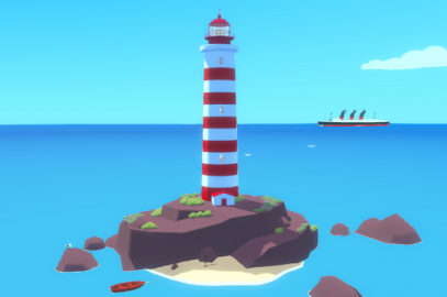 A Bright Light in the Middle of the Ocean,</br> el videojuego como espacio